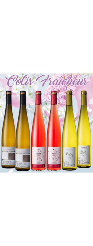 """Coffret 6 bouteilles Colis """"Fraîcheur"""""""